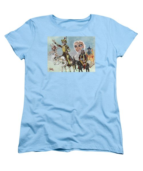Women's T-Shirt (Standard Cut) featuring the painting Unreachable Star by JA George AKA The GYPSY