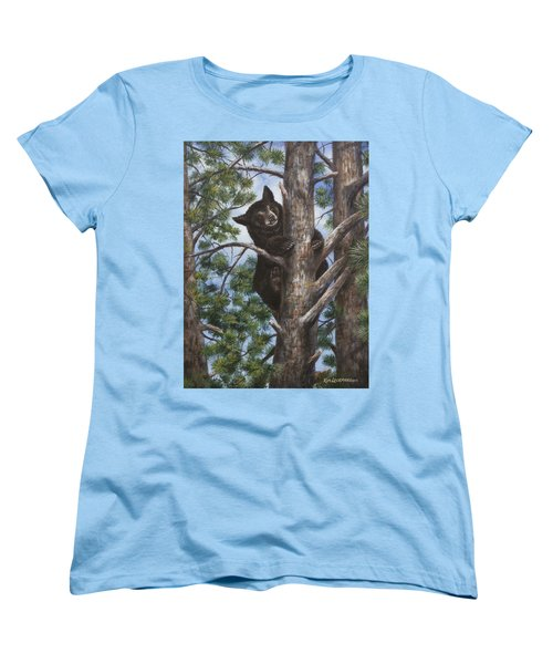 Women's T-Shirt (Standard Cut) featuring the painting Up A Tree by Kim Lockman