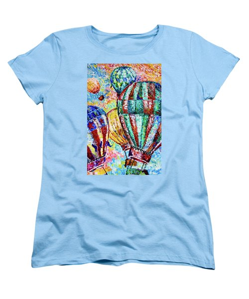 Women's T-Shirt (Standard Cut) featuring the painting Up by Colleen Kammerer