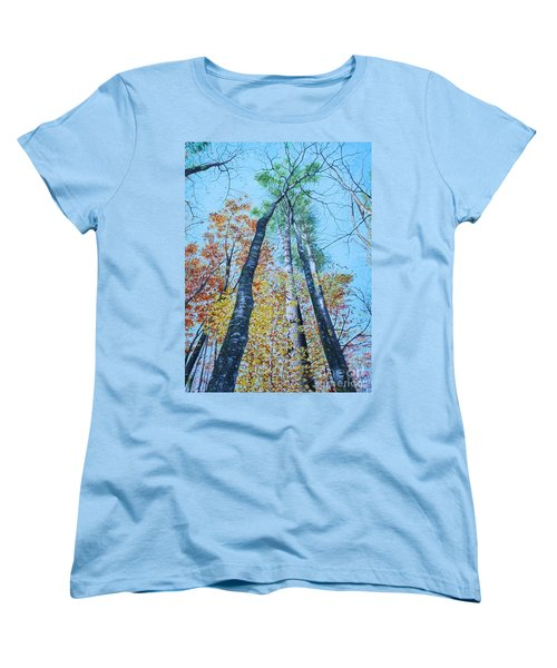 Up Into The Trees Women's T-Shirt (Standard Cut) by Mike Ivey