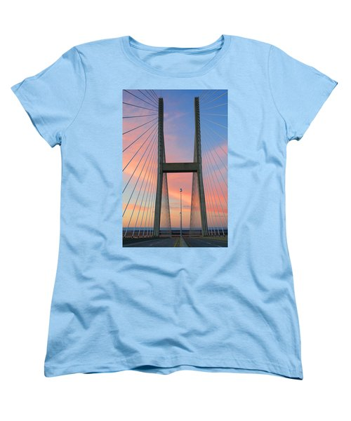 Up On The Bridge Women's T-Shirt (Standard Cut) by Kathryn Meyer