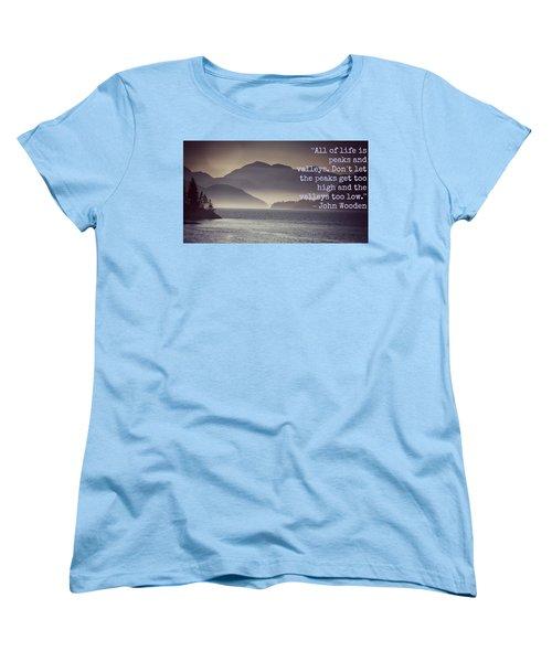 Uplifting244 Women's T-Shirt (Standard Cut) by David Norman