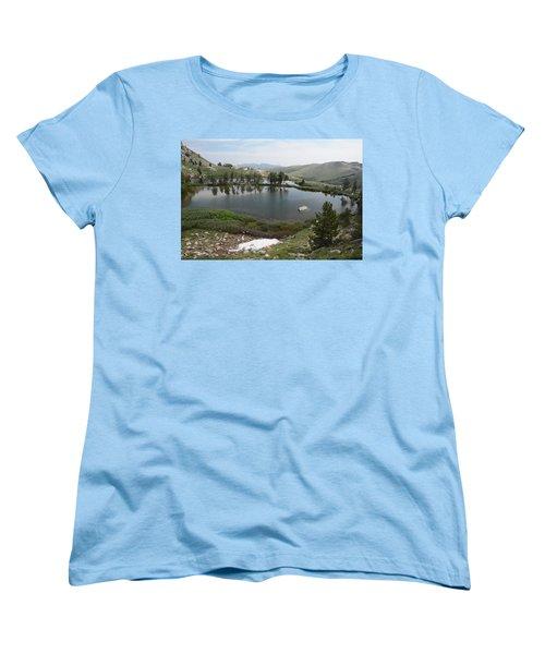 Women's T-Shirt (Standard Cut) featuring the photograph Upper Hidden Lake by Jenessa Rahn
