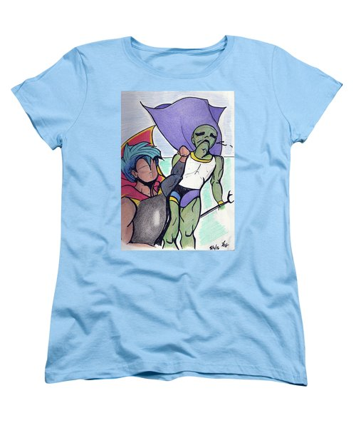 Uppercut Pow Women's T-Shirt (Standard Cut) by Loretta Nash