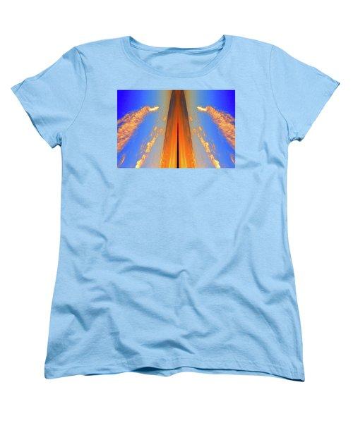 Upwards Two  Women's T-Shirt (Standard Cut) by Lyle Crump