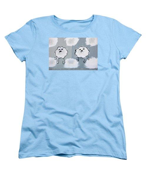 Women's T-Shirt (Standard Cut) featuring the photograph Urban Rain Clouds by Art Block Collections