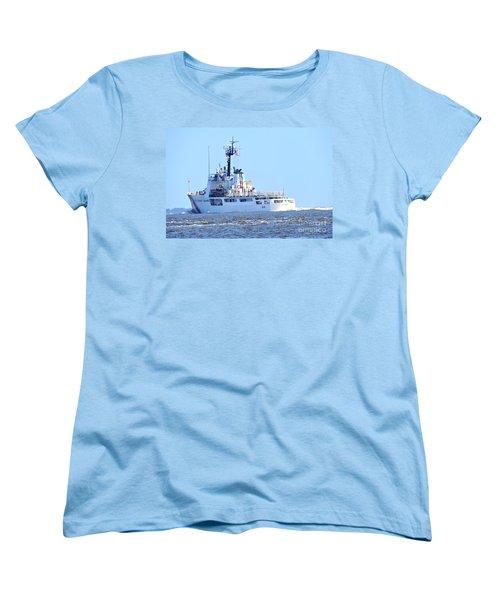 Women's T-Shirt (Standard Cut) featuring the photograph Us Coast Guard  - Diligence by Shelia Kempf