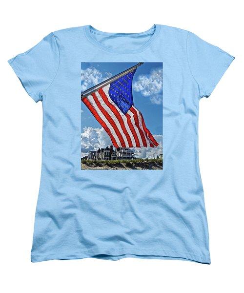 Us Flag,ocean Grove,nj Flag Women's T-Shirt (Standard Cut)