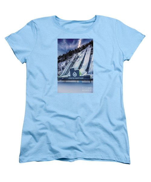 Utah Olympic Park Women's T-Shirt (Standard Cut) by David Millenheft