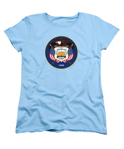 Utah State Flag Authentic Version Women's T-Shirt (Standard Cut) by Bruce Stanfield