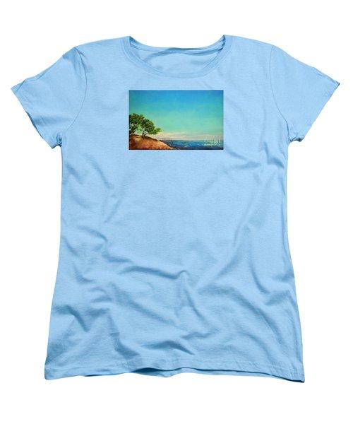 Women's T-Shirt (Standard Cut) featuring the painting Vacanza Permanente by Maja Sokolowska