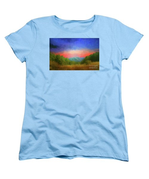 Valley In The Cove Women's T-Shirt (Standard Cut) by Geraldine DeBoer