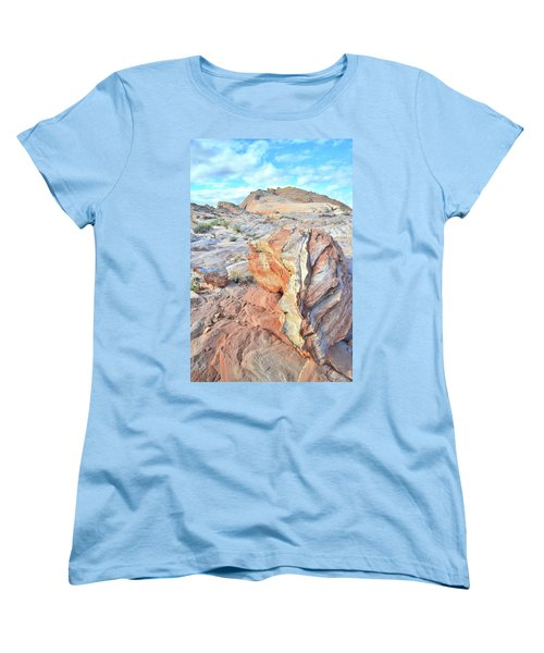 Valley Of Fire Alien Boulder Women's T-Shirt (Standard Cut) by Ray Mathis