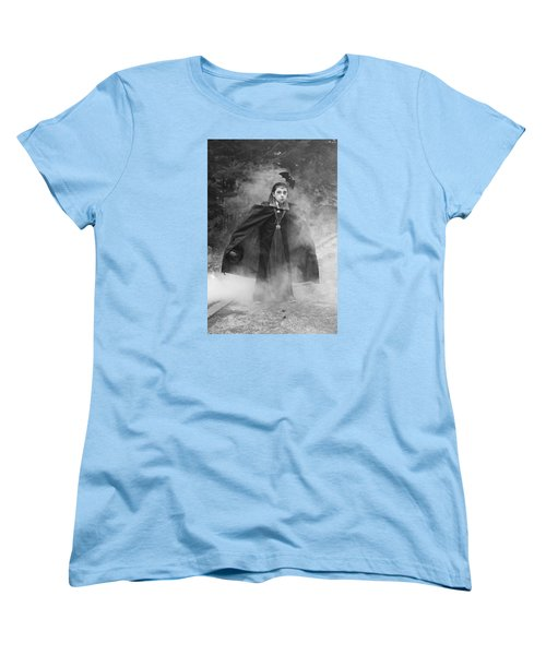 Vampire In The Fog Women's T-Shirt (Standard Cut) by Barbara West