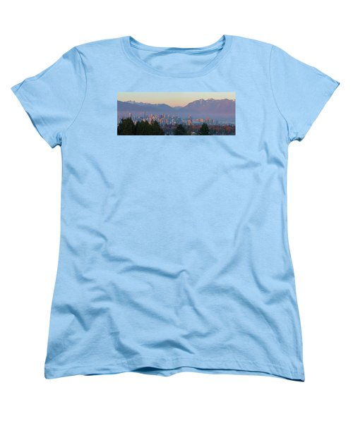 Vancouver Bc Downtown Cityscape At Sunset Panorama Women's T-Shirt (Standard Fit)