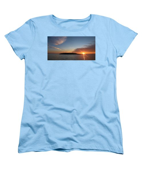 Women's T-Shirt (Standard Cut) featuring the photograph Variations Of Sunsets At Gulf Of Bothnia 3 by Jouko Lehto