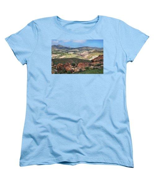 Vasquez Rocks Park Women's T-Shirt (Standard Cut) by Kyle Hanson