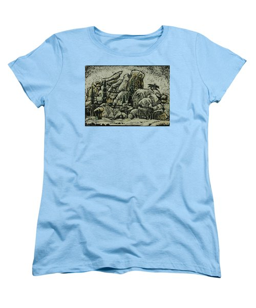Women's T-Shirt (Standard Cut) featuring the drawing Vedauwoo by Dawn Senior-Trask