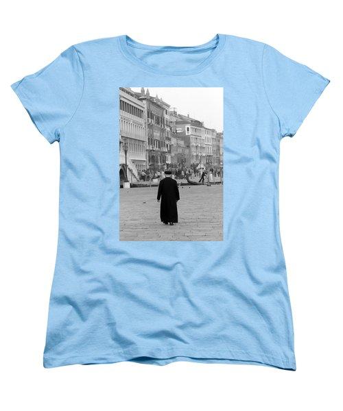 Venetian Priest And Gondola Women's T-Shirt (Standard Cut) by KG Thienemann