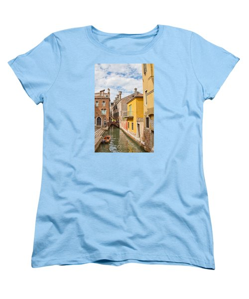 Venice Canal Women's T-Shirt (Standard Cut) by Sharon Jones