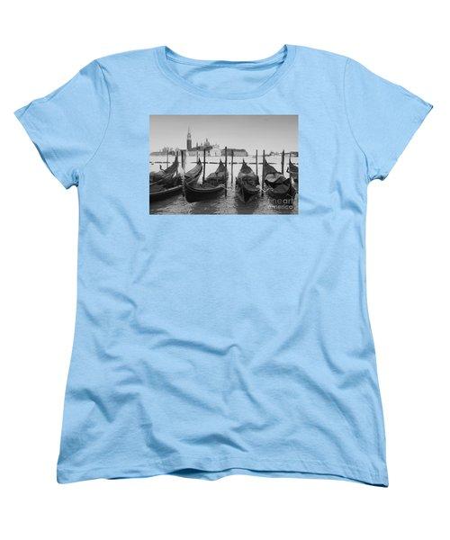 Venice Gondolas Women's T-Shirt (Standard Cut) by Rudi Prott