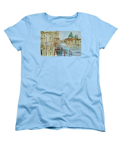 Women's T-Shirt (Standard Cut) featuring the painting Venice Impression IIi by Xueling Zou
