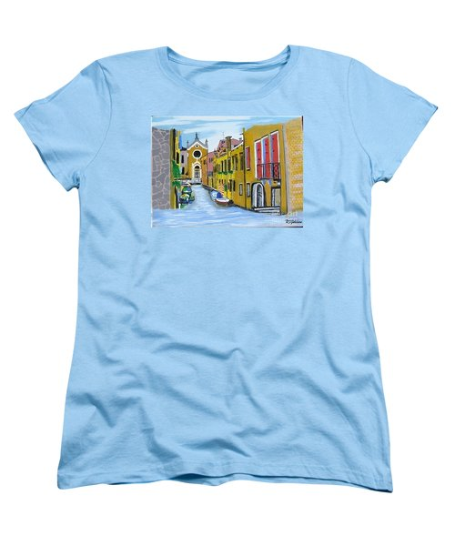 Women's T-Shirt (Standard Cut) featuring the painting Venice In September by Rod Jellison