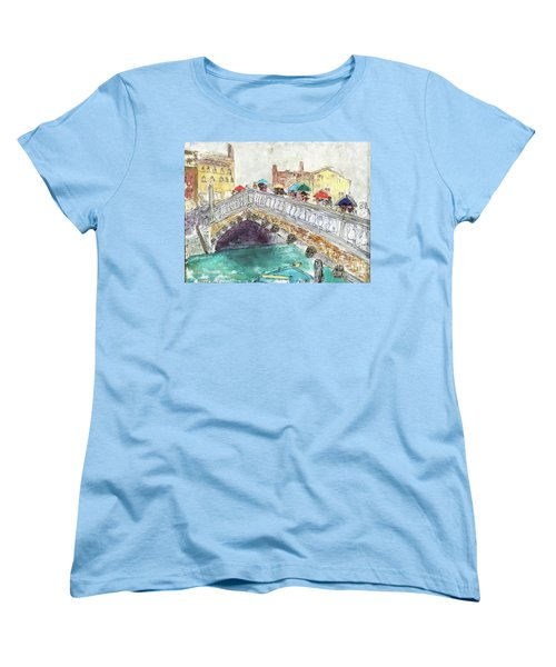 Venice In The Rain Women's T-Shirt (Standard Cut) by Barbara Anna Knauf