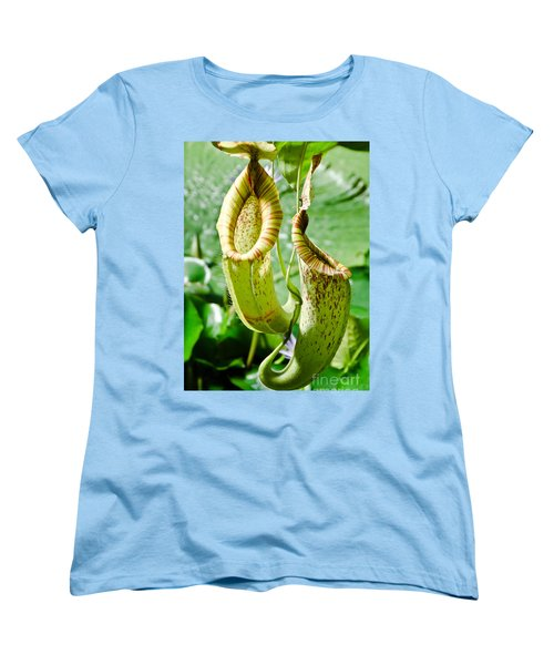 Women's T-Shirt (Standard Cut) featuring the painting Venus Fly Catcher by Yurix Sardinelly