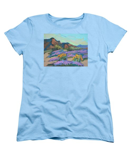 Women's T-Shirt (Standard Cut) featuring the painting Verbena And Spring by Diane McClary