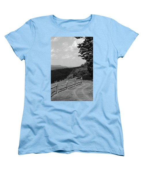Women's T-Shirt (Standard Cut) featuring the photograph Vermont Countryside 2006 Bw by Frank Romeo