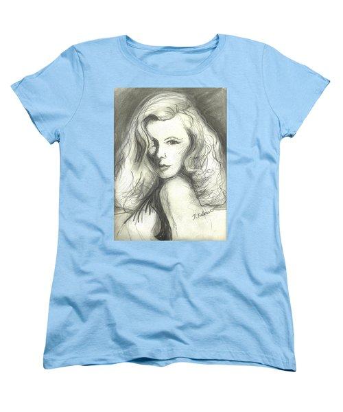 Veronica Lake Women's T-Shirt (Standard Cut) by Denise Fulmer
