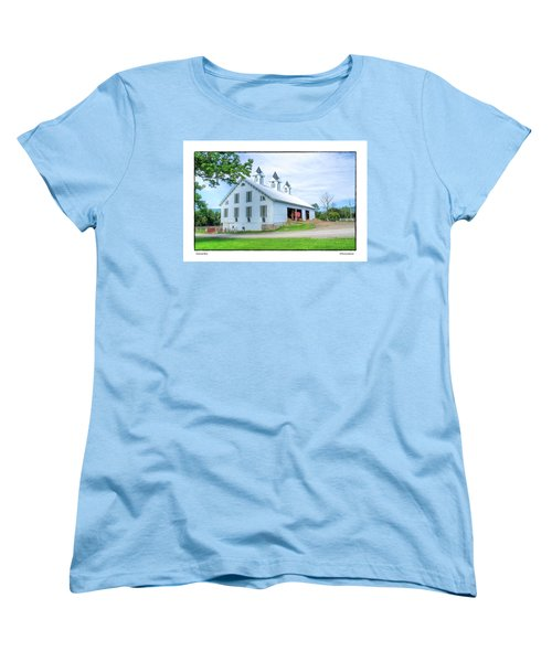Women's T-Shirt (Standard Cut) featuring the photograph Victorian Barn by R Thomas Berner