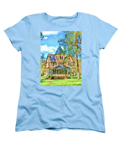 Women's T-Shirt (Standard Cut) featuring the photograph Victorian Painting by Wendy McKennon
