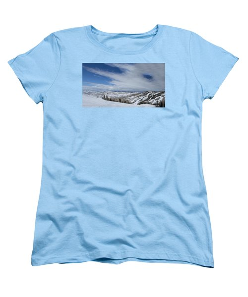 View From The Slope Women's T-Shirt (Standard Cut) by Sean Allen