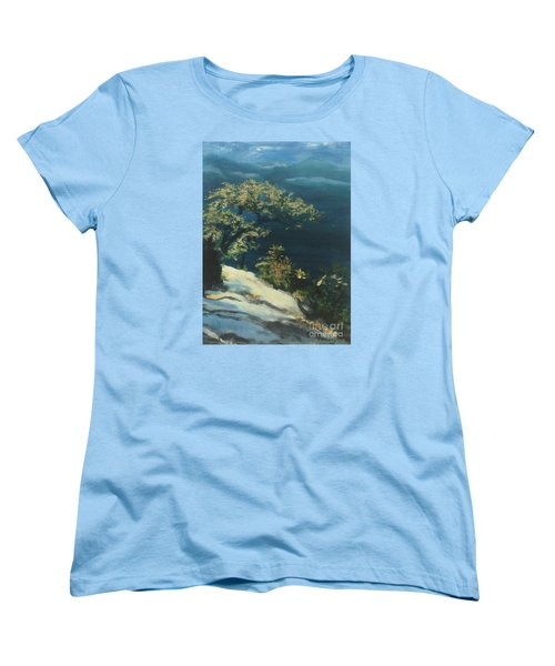 Women's T-Shirt (Standard Cut) featuring the painting View From The Top by Mary Lynne Powers