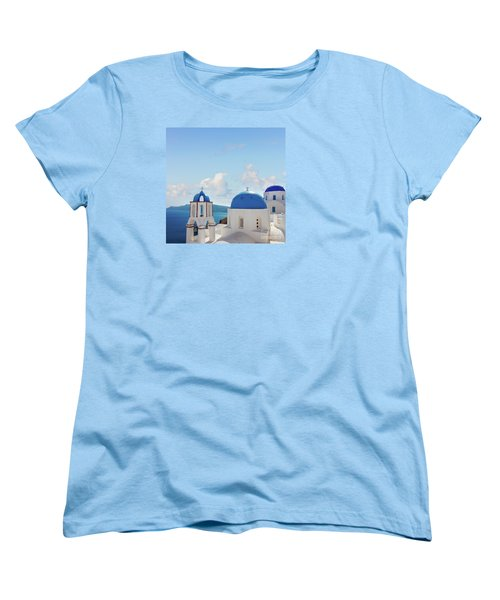 Caldera  Of Santorini Women's T-Shirt (Standard Cut) by Anastasy Yarmolovich