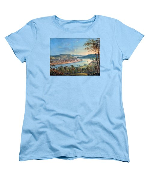 Women's T-Shirt (Standard Cut) featuring the painting View Of Cincinnati From Covington by John Caspar Wild