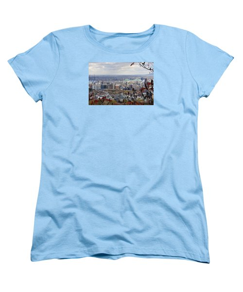 View Of The Jacques Cartier Bridge Women's T-Shirt (Standard Cut) by Reb Frost
