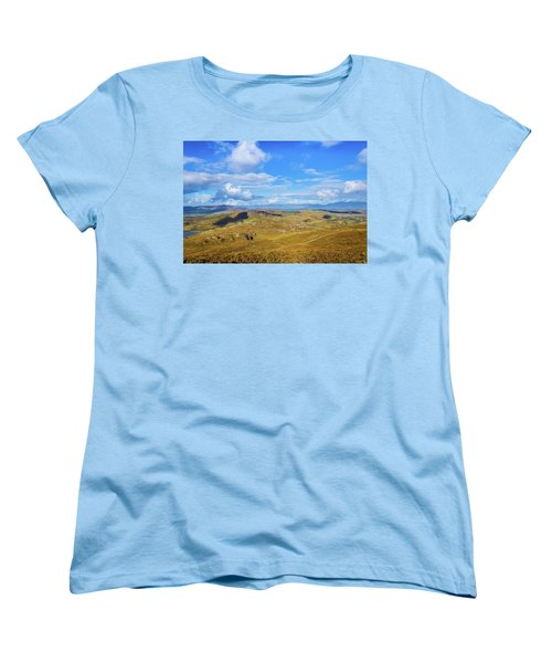 Women's T-Shirt (Standard Cut) featuring the photograph View Of The Mountains And Valleys In Ballycullane In Kerry Irela by Semmick Photo