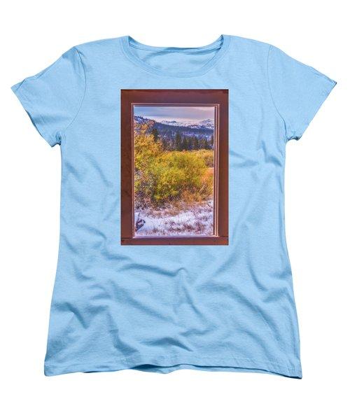 View Out The Frame Of A Broken Window Women's T-Shirt (Standard Cut) by Marc Crumpler