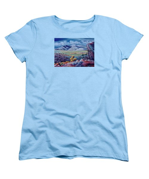Women's T-Shirt (Standard Cut) featuring the painting View South From Cedar Breaks by Dawn Senior-Trask