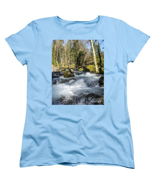 Views Of A Stream, IIi Women's T-Shirt (Standard Cut) by Chuck Flewelling