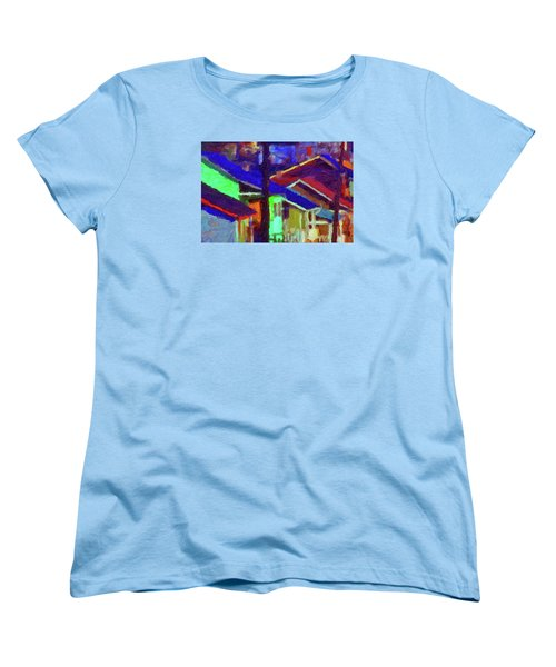 Village Houses Women's T-Shirt (Standard Cut) by Richard Farrington