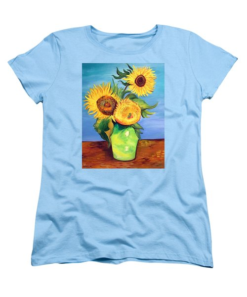 Vincent's Sunflowers Women's T-Shirt (Standard Cut) by Patricia Piffath