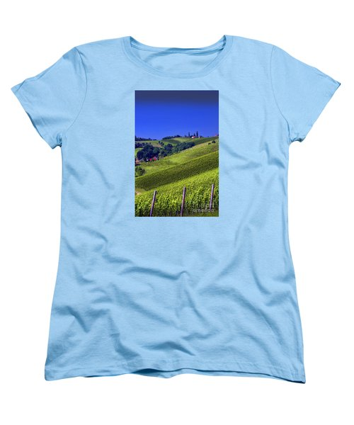 Vineyards Of Jerusalem Slovenia Women's T-Shirt (Standard Cut) by Graham Hawcroft pixsellpix