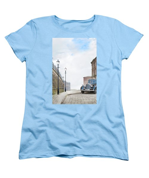 Vintage Car Parked On The Street Women's T-Shirt (Standard Cut) by Lee Avison