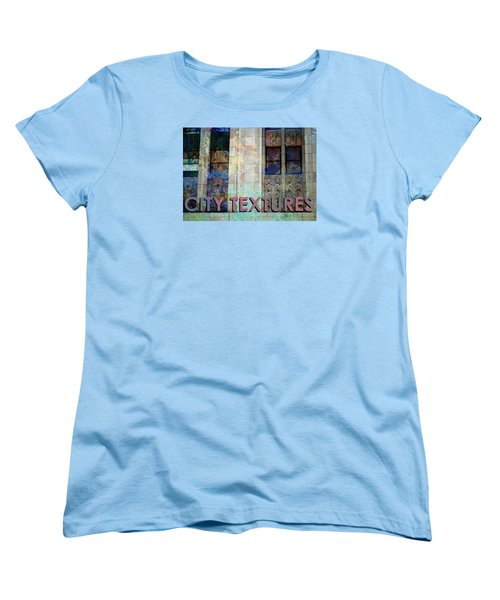 Women's T-Shirt (Standard Cut) featuring the mixed media Vintage City Textures by John Fish