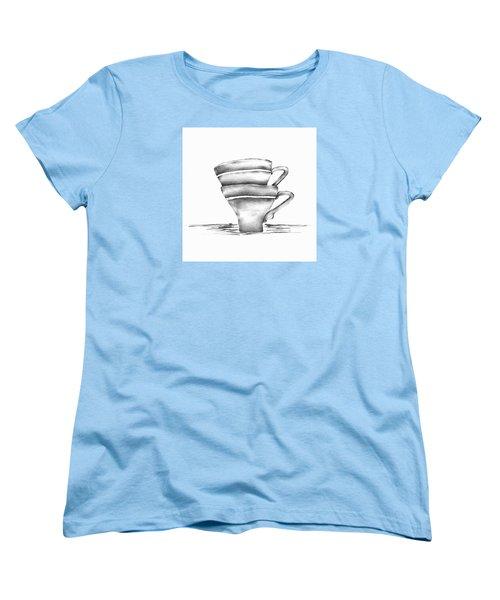 Vintage Cups Women's T-Shirt (Standard Cut) by Brenda Bryant
