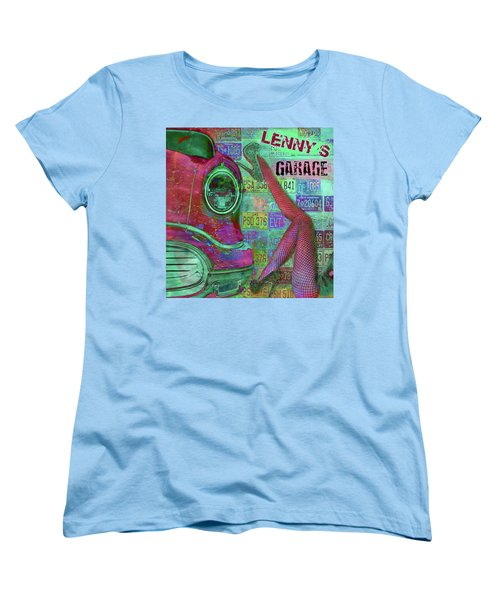 Vintage Garage Print Women's T-Shirt (Standard Cut)